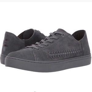 TOMS Women's Gray Suede Sneakers - 9.5